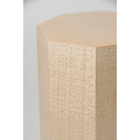 「No.3(DM) 楓八角錫象嵌茶箱 / Box for tea ustensils, Maple, Tin inlay」の写真 その5