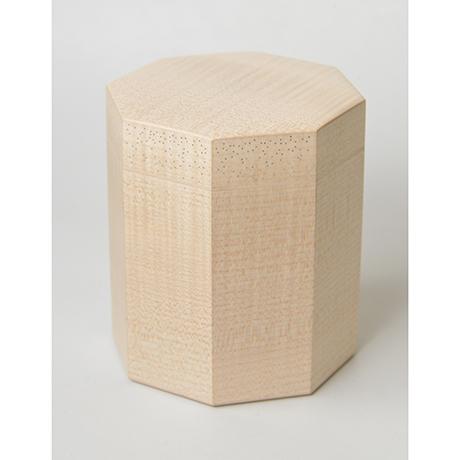 「No.3(DM) 楓八角錫象嵌茶箱 / Box for tea ustensils, Maple, Tin inlay」の写真 その6