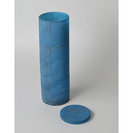 「No.31 津田清和 碧筒花入 / TSUDA Kiyokazu Vase, Glass」の写真 その3