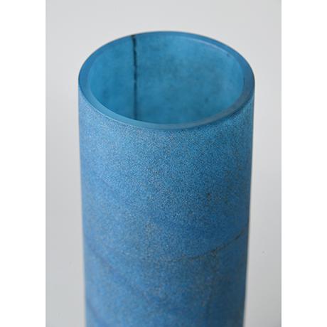 「No.31 津田清和 碧筒花入 / TSUDA Kiyokazu Vase, Glass」の写真 その4