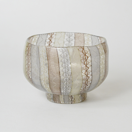 「No.45 小西潮 うり坊茶碗 / KONISHI Ushio Tea bowl, Glass」の写真 その1