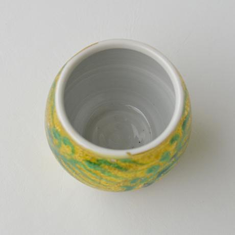 「No.8 加藤土師萌 釉裏金彩茶入 / KATO Hajime Tea caddy, Underglazed gold」の写真 その5