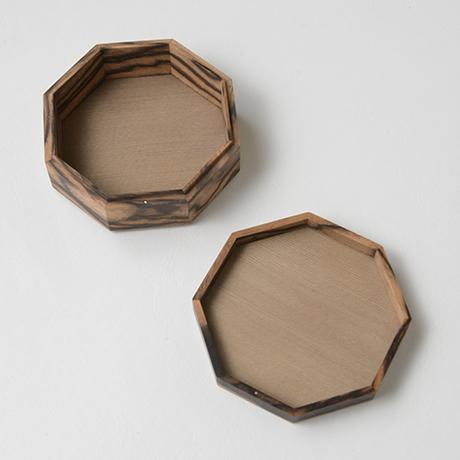「No.9 黒柿孔雀杢八稜小箱 / Small box, Black persimmon」の写真 その2