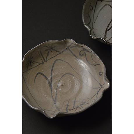 「No.98 絵唐津向付揃 五 / A set of 5 bowls, E-karatsu」の写真 その1