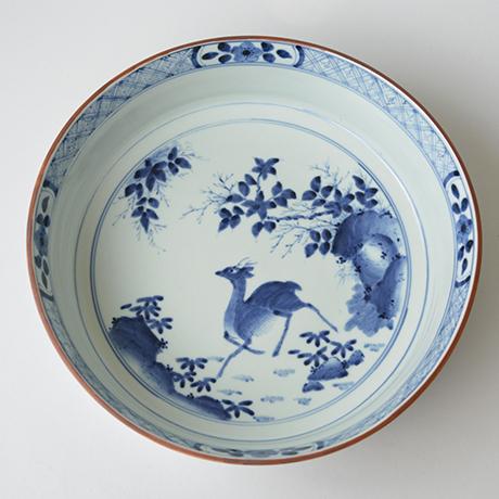 「No.1 祥瑞鹿文大鉢 / Basin with deer design, Sometsuke」の写真 その3