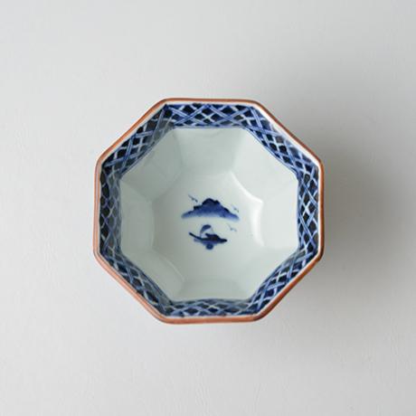 「No.11 祥瑞山水図八角小向付 / Small bowl with landscape design, Sometsuke」の写真 その2