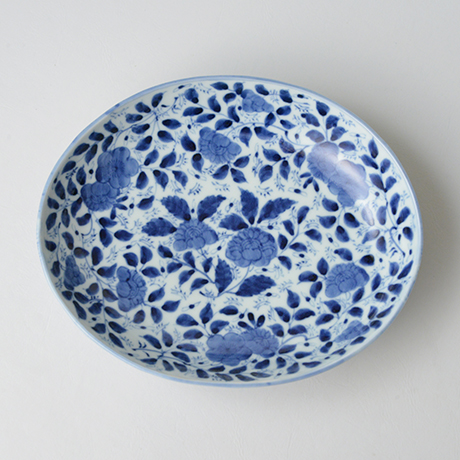 「No.13 草花散文楕円中皿 / Oval dish with scattered flowers design, Sometsuke」の写真 その1
