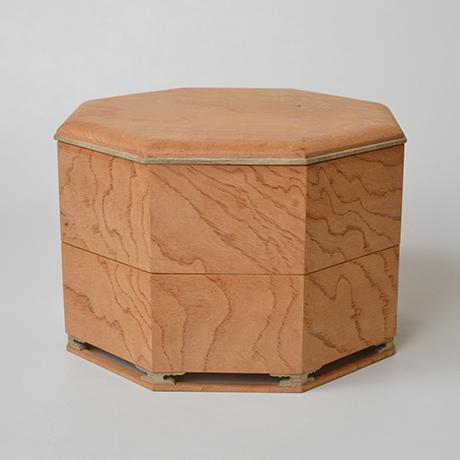 「No.13 八角重 ケヤキ 神代タモ  / Triple-tiered Box, Zelkova, Ancient Japanese ash」の写真 その1