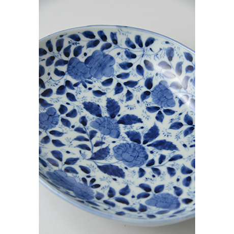 「No.13 草花散文楕円中皿 / Oval dish with scattered flowers design, Sometsuke」の写真 その2