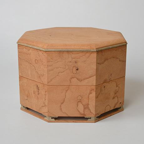 「No.13 八角重 ケヤキ 神代タモ  / Triple-tiered Box, Zelkova, Ancient Japanese ash」の写真 その2