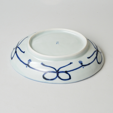 「No.13 草花散文楕円中皿 / Oval dish with scattered flowers design, Sometsuke」の写真 その4