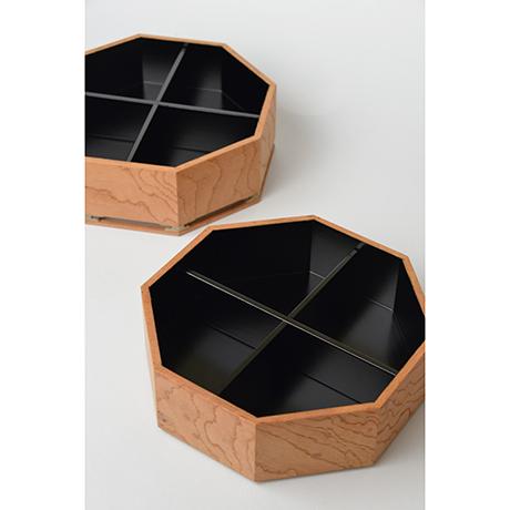 「No.13 八角重 ケヤキ 神代タモ  / Triple-tiered Box, Zelkova, Ancient Japanese ash」の写真 その4