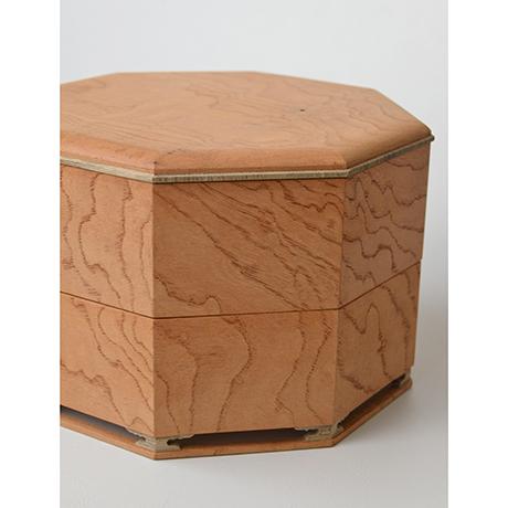 「No.13 八角重 ケヤキ 神代タモ  / Triple-tiered Box, Zelkova, Ancient Japanese ash」の写真 その8