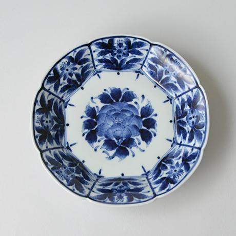 「No.14 芙蓉手牡丹文輪花皿 七寸  / Dish with peony design, Sometsuke」の写真 その1