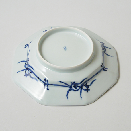 「No.15 芙蓉手花鳥文八角皿 七寸  / Dish with birds and flowers design, Sometsuke」の写真 その3