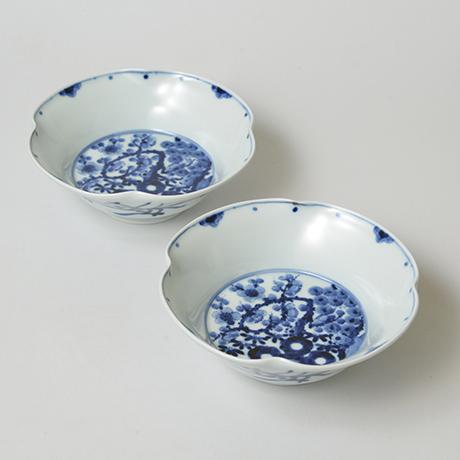 「No.16 松竹梅文四方押向付  / Square dish, Pine, bamboo and plum design, Sometsuke」の写真 その1