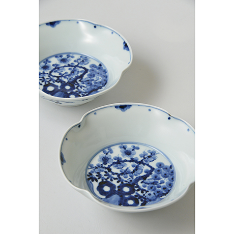 「No.16 松竹梅文四方押向付  / Square dish, Pine, bamboo and plum design, Sometsuke」の写真 その3