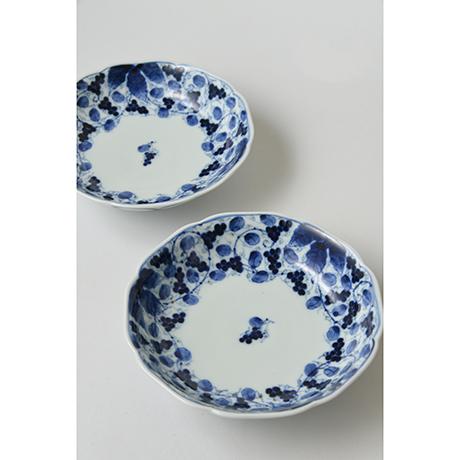 「No.17 葡萄唐草文輪花向付 / Dish with grape arabesque design, Sometsuke」の写真 その4