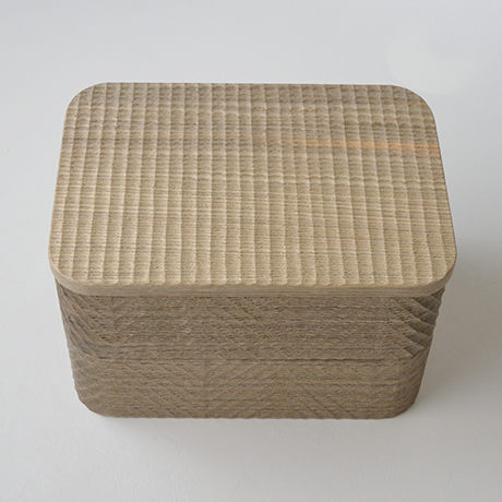 「No.17 我谷手重 神代タモ / Double-tiered Box, Wagata style, Ancient Japanese ash」の写真 その6