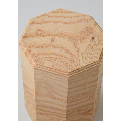 「No.18-2 ミニ八角重 ケヤキ / Octagonal Triple-tiered Box, Zelkova」の写真 その4