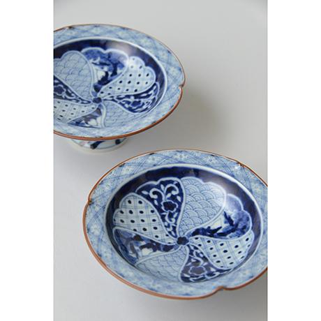 「No.19 祥瑞山水図三方押高台皿  / Dish with landscape design, Sometsuke」の写真 その3