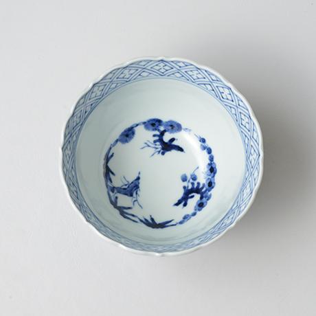 「No.20 蛸唐草文輪花深向付  / Dish with octopus arabesque design, Sometsuke」の写真 その2