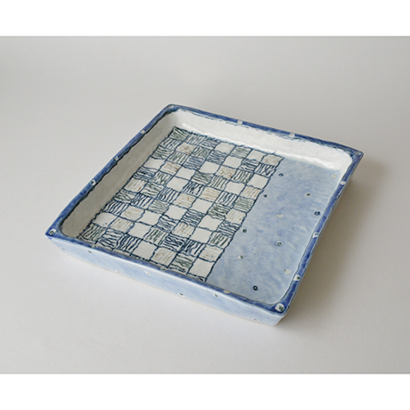 「No.28 正角皿 / Square plate, Sometsuke」の写真 その1
