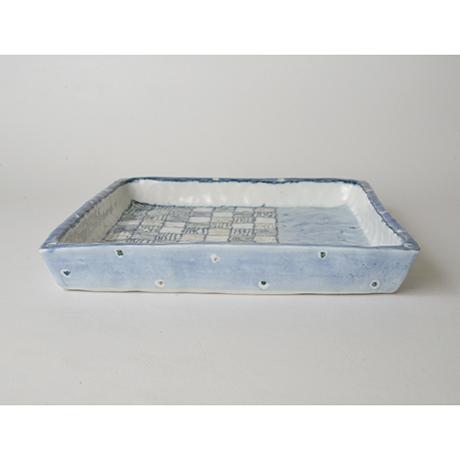 「No.28 正角皿 / Square plate, Sometsuke」の写真 その2