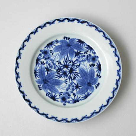 「No.29 松竹梅丸文リム皿 七寸  / Plate, Pine, bamboo and plum design, Sometsuke」の写真 その1