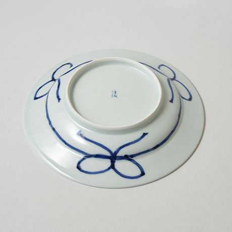 「No.29 松竹梅丸文リム皿 七寸  / Plate, Pine, bamboo and plum design, Sometsuke」の写真 その3