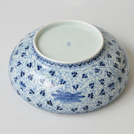 「No.33 花唐草松竹梅丸文鉢 八寸  / Bowl with arabesque and pine, bamboo and plum design, Sometsuke」の写真 その5