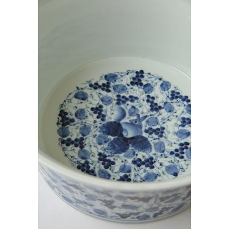 「No.34 葡萄唐草栗鼠丸文鉢 八寸  / Bowl with grape arabesque and squirrel design, Sometsuke」の写真 その4
