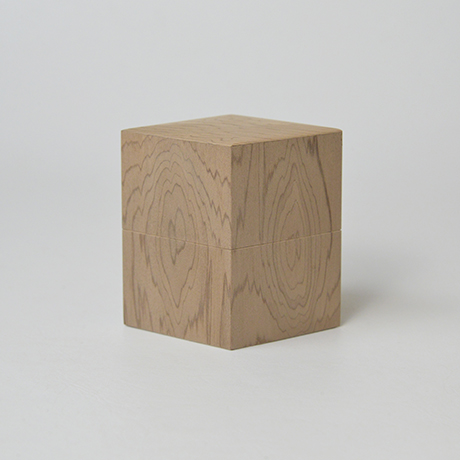 「No.35 菱中次 神代スギ / Tea Caddy, Rhombus shape, Ancient Japanese Cedar」の写真 その1
