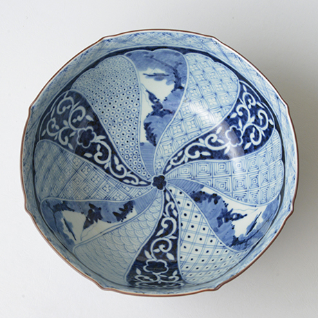 「No.35 祥瑞山水図八角中鉢  / Octagonal bowl with landscape design, Sometsuke」の写真 その2