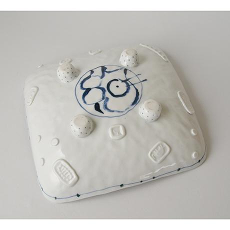「No.37 四つ足四方鉢 / Square plate, Sometsuke」の写真 その3