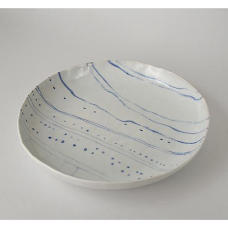 「No.40 丸平鉢 生まれ育った京都下鴨 / Round plate, Sometsuke, The view of Kamogawa, where I was born and raised」の写真 その1