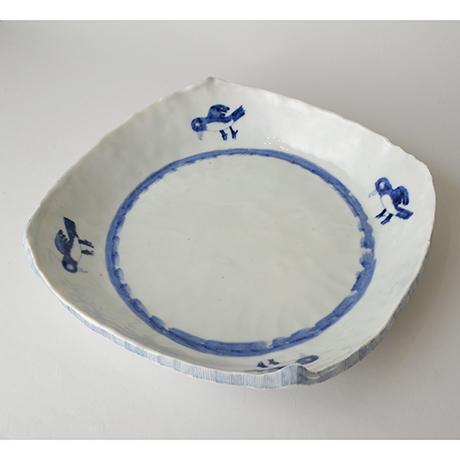「No.42 タタキ平鉢 / Plate, Sometsuke」の写真 その1
