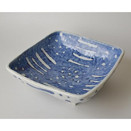 「No.43 四つ足四方鉢 / Square dish, Sometsuke」の写真 その1