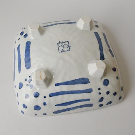 「No.43 四つ足四方鉢 / Square dish, Sometsuke」の写真 その3