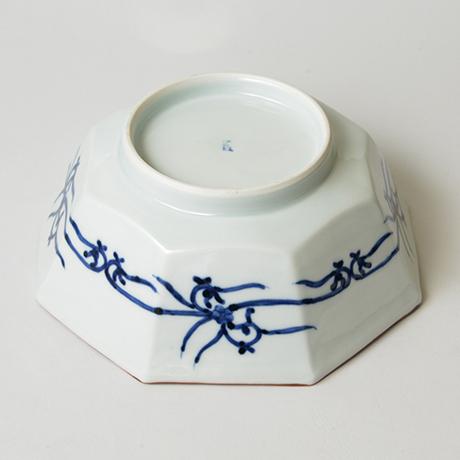 「No.43 祥瑞山水図八角中鉢 / Octagonal bowl with landscape design, Sometsuke」の写真 その4