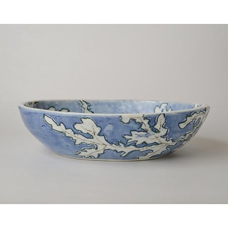 「No.46 楕円タタキ鉢 / Bowl, Sometsuke」の写真 その2