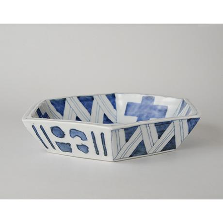 「No.47-1 六角鉢 / Bowl, Hexagoanl shape, Sometsuke」の写真 その2