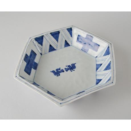 「No.47-1 六角鉢 / Bowl, Hexagoanl shape, Sometsuke」の写真 その1