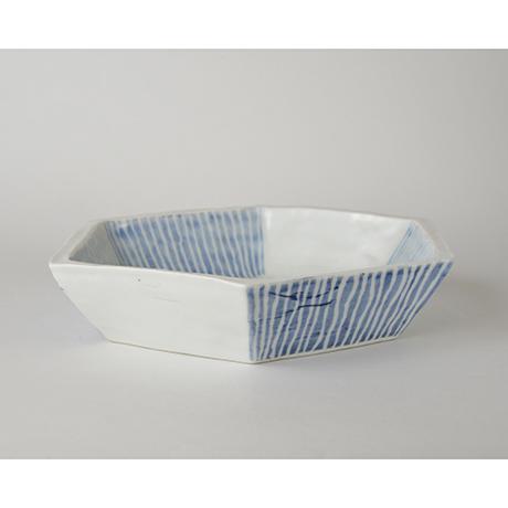 「No.47-2 六角鉢 / Bowl, Hexagoanl shape, Sometsuke」の写真 その2