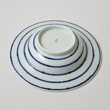 「No.5 横縞龍文リム皿 七寸  / Dish with dragon design, Sometsuke」の写真 その3