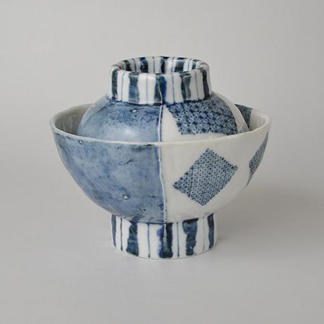 「No.50-3 蓋つき碗 / Bowl with lid, Sometsuke」の写真 その1