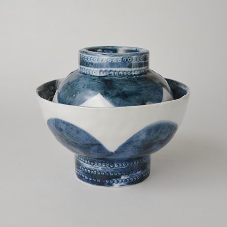 「No.50-4 蓋つき碗 / Bowl with lid, Sometsuke」の写真 その1