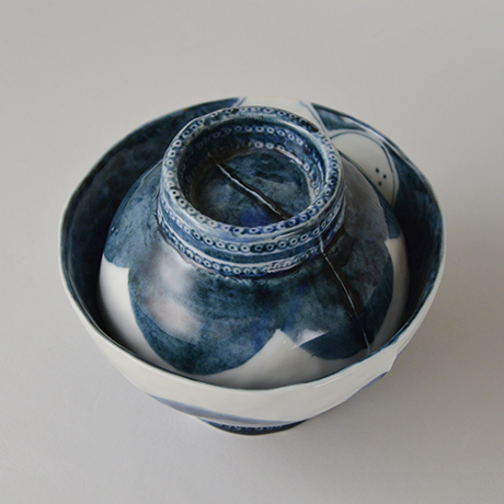 「No.50-4 蓋つき碗 / Bowl with lid, Sometsuke」の写真 その2