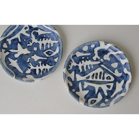 「No.55 丸皿 五 / A set of 5 round plates, Sometsuke」の写真 その3