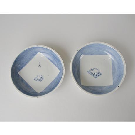 「No.57 丸深皿 五 / A set of 5 round plates, Sometsuke」の写真 その2